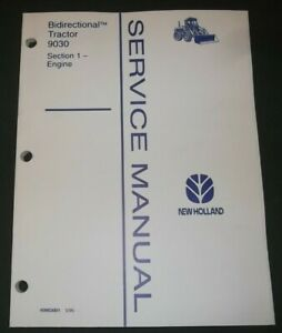 NEW HOLLAND 9030 TRACTOR ENGINE SERVICE SHOP REPAIR MANUAL BOOK