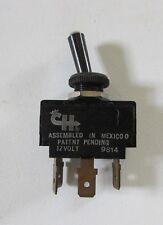 CH 9814  12-VOLT BLACK PLASTIC TOGGLE SWITCH