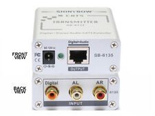 Composite Video Digital Analog Audio Transmitter CAT5/6 Extender 1000ft SB-6135T