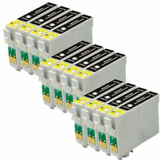 12 COMPATIBLE BLACK INK CARTRIDGES REPLACE T0711 / TO711 Epson SX DX printers