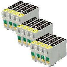 12 Cartuchos de Tinta Negra Compatible reemplazar T0711/TO711 Epson SX DX Impresoras