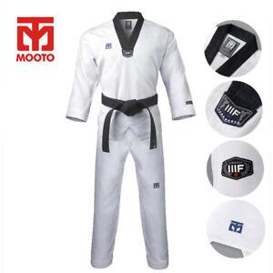Mooto Original Official 3F Taekwondo Uniform Dobok Gi V Neck  KTA WTF Approved