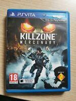 KILLZONE MERCENARY Good Condition UK PAL Sony PlayStation Vita PSV MERCINARY