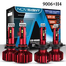 9006(HB4) + H4(9003) LED Headlight Kit Fog Bulbs Beam 20000LM 120W Waterproof