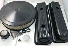 Black Center Bolt SB Chevy Engine Dress Up Kit W/ Air Cleaner 5.0 5.7 87-95 V8