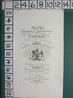 1826 Datierter Antik Cheltenham Aufdruck Trade Werbung ~ Titel Page
