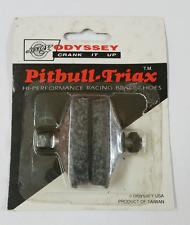 Vintage Retro ODYSSEY Pitbull-Triax Brake Shoes Old School NOS Freestyle Black