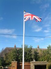 Glass Fibre Gel Coated Tapered flag pole 6 meters 20 ft - FREE UNION 5x3 FLAG