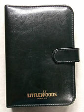 Vintage File Organiser LITTLEWOODS POOLS BLACK FAUX LEATHER STANDARD PERSONAL