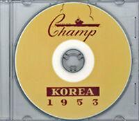USS Lake Champlain CVA 39 1953 Korea CRUISE BOOK CD