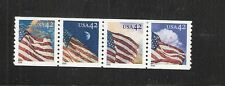 2008 #4228-4231 Strip of 4 42¢ Flags 24/7 WAG MNH