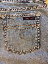 Vintage Calvin Klein Womens 5� Side Slit Denim Jean Shorts Sz 9 Usa