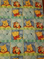 Vintage Winnie The Pooh Tigger Baby Crib Quilt Comforter Blanket Patchwork RARE!