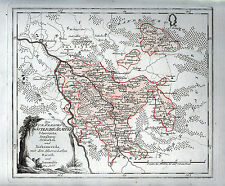 KURKREIS Südöstliche Ämter Schweinitz, Annaburg u. a. Landkarte 1791 Original