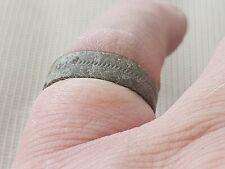 Nice rare Viking herring bone copper alloy ring. Please read description. L90q+