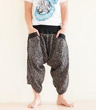 Hippie Japanese Style Harem Pants Unique Yoga Trousers Casual Summer Tribal Rock