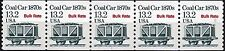 Coal Car 1870s 13.2 Bulk Rate Transportation Coil MNH PNC5 Plate 1 Scott's 2259