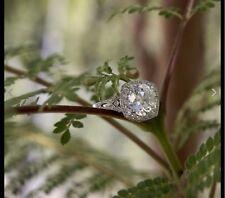 2.59 Ct  Edwardian Antique/Style Genuine Diamond Engagement Ring VS2 EF PLATINUM
