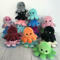 Réversible Flip Pieuvre Poulpe Octopus Peluche Poupée Doux Simulation Réversible
