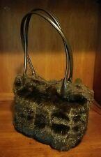 Kurtmen Design Brown Shades Fur & Leather Handbag **Nice