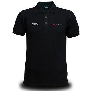 Genuine Audi tt Sport Car Racing Streetwear Motorsport Black Men Polo T-Shirt