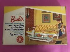 Vintage Barbie go-together furniture kit convertible sofa-bed & coffee NIB 1963