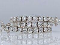 18K/750 Weißgoldener Tennis Armband mit 4.40ct  F/VS - 61 Stück Diamanten