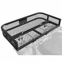 New Universal Black Widow ATVRB-3922 ATV Rear Rack Steel Mesh Cargo Basket