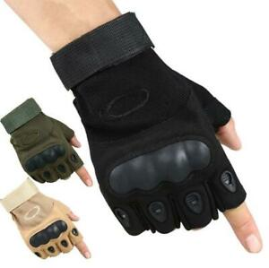 TOP Hard Knuckle Half Finger Gloves Motorcycle MTB Tactical Fingerless Cycling