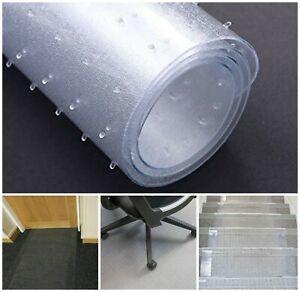 "9FT Vinyl Clear Plastic Carpet Protector 27"" Wide Home Office Hallway Runner Mat"