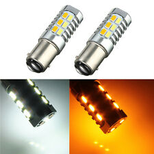 2X 1157 Dual Color Switchback White Amber Turn Signal LED Light Bulb 1157A