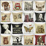 """New Vintage Tapestry Photograph Cushion Covers Chenille Woven Case Size 18 x 18"""""""