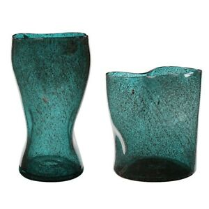 Uttermost Lulu Aqua Glass Vases, Set of 2 - 17843