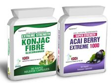 60 Acai Berry Extreme 90 Glucomannan Konjac Fibre Free Diet Weight Loss Tips