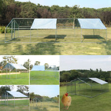 6-Sizes Chicken Run Hen Roof House Walk In Coop Cage Dog Rabbit Pen 1 FREE Shade