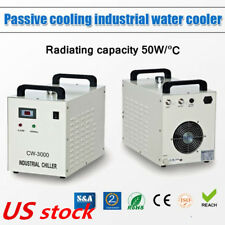 CW-3000DG Industrial Water Chiller for Laser Engraver with 60/80W CO2 Glass Tube
