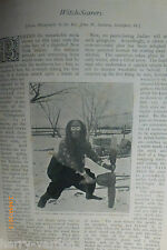American Red Indian Witch Scarers Scarer Rare Old Victorian Antique 1897 Article