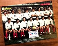 RUGBY POSTER EQUIPE DE FRANCE / FRENCH RUGBY - TOURNOI 5 NATIONS 1975 - RARE