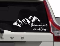 The Mountains are Calling Car Window Decal, Outdoors Window Sticker