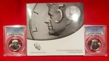 2014 50th Anniversary Kennedy Half Dollar 2 Coin Uncirculated Set PCGS SP66&67