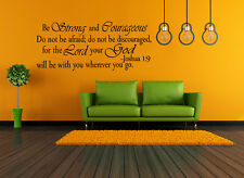Bible Verse Wall Decal Sticker Word Vinyl Removable Quote Scripture Art Decor Black Joshua 1 9