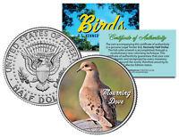 MOURNING DOVE BIRD JFK Kennedy Half Dollar US Colorized Coin