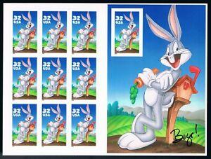 US Scott  3137 Bugs Bunny pane of 10 32c MNH 1997