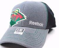 Minnesota Wild Reebok M207Z NHL Pro Draft Flex Fit Hockey Cap Hat   L/X