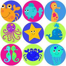 144 SEA LIFE creature 30mm Children's Reward Adesivi Per Insegnante, padre