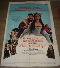 1970 ANNE of the THOUSAND DAYS 1 SHEET MOVIE POSTER GENEVIEVE BUJOLD GGA NICE