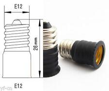 100x E12 Male to E12 Female Base LED Light Bulb Adapter Holder Socket Converter