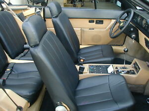 FERRARI MONDIAL 1983-1985 IGGEE S.LEATHER CUSTOM SEAT COVER 13 COLORS AVAILABLE