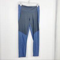 Outdoor Voices Size M Medium Black & Blue Two Tone Leggings Crop Womens Athletic