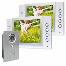 Video Türsprechanlage Bildspeicher auch auf SD-Karte 110° Sichtwinkel Kamera IR